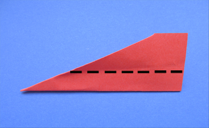 Fold the wings down on both sides as shown in picture.