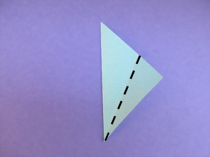 <p> Fold one layer of the right bottom edge to align with the left edge.</p>  <p>  </p>