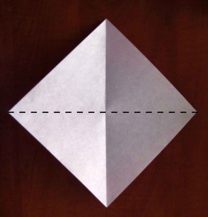 Fold the paper in half in the opposite direction.