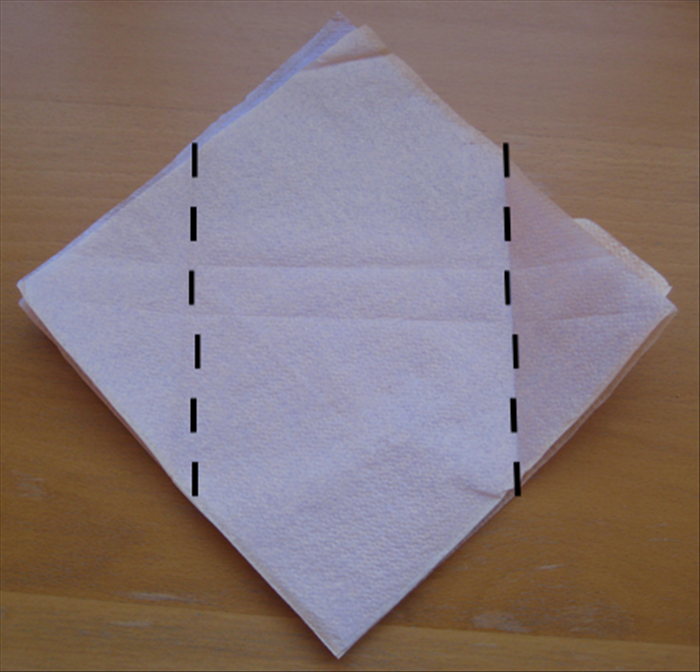 Flip the napkins over to the backside.