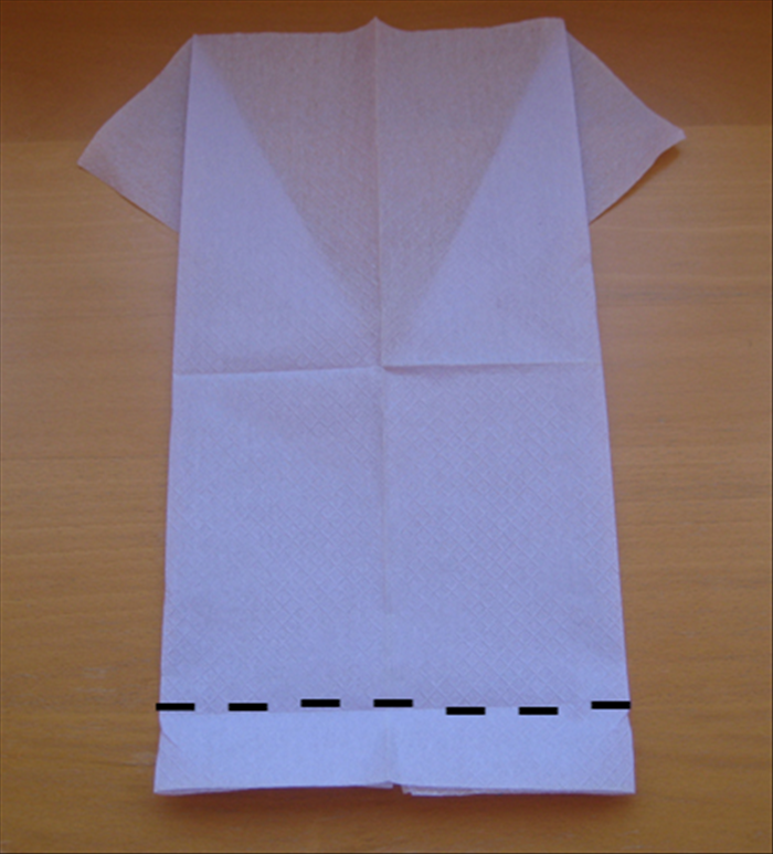 Flip over the napkin to the back side.
