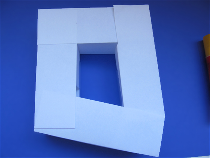 <p> Use 4 of the 3D rectangles to make a square.</p>   <p>  </p>