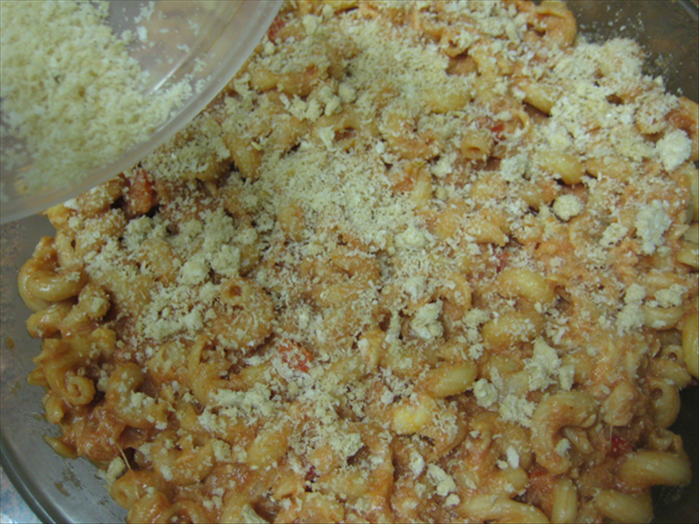 Sprinkle breadcrumbs over the top
