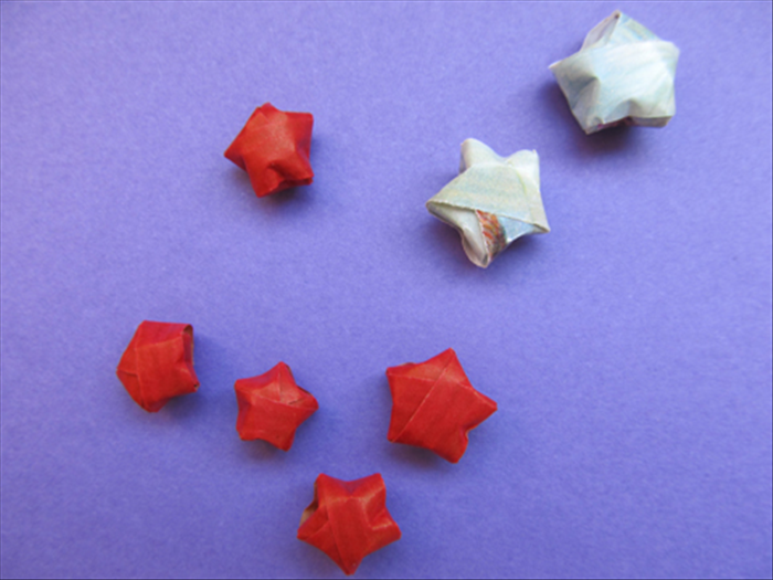 To make lucky stars you will need strips of paper
