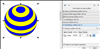 How to color a wireframe sphere with stripes in Inkscape