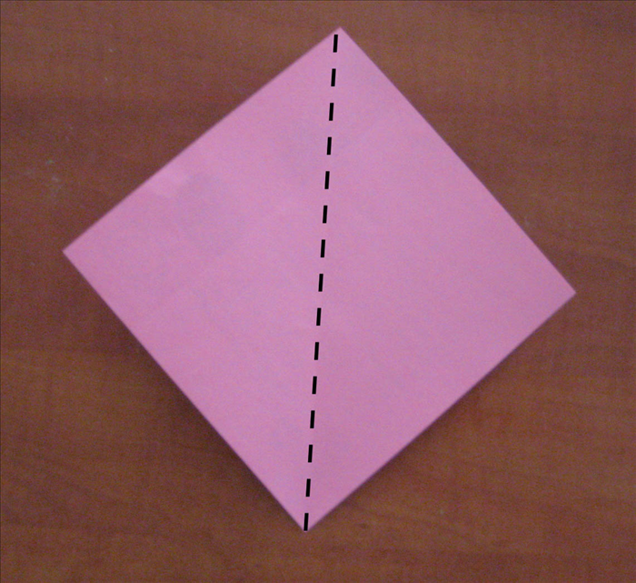 Place the paper so that the points are at the top, bottom and sides.
