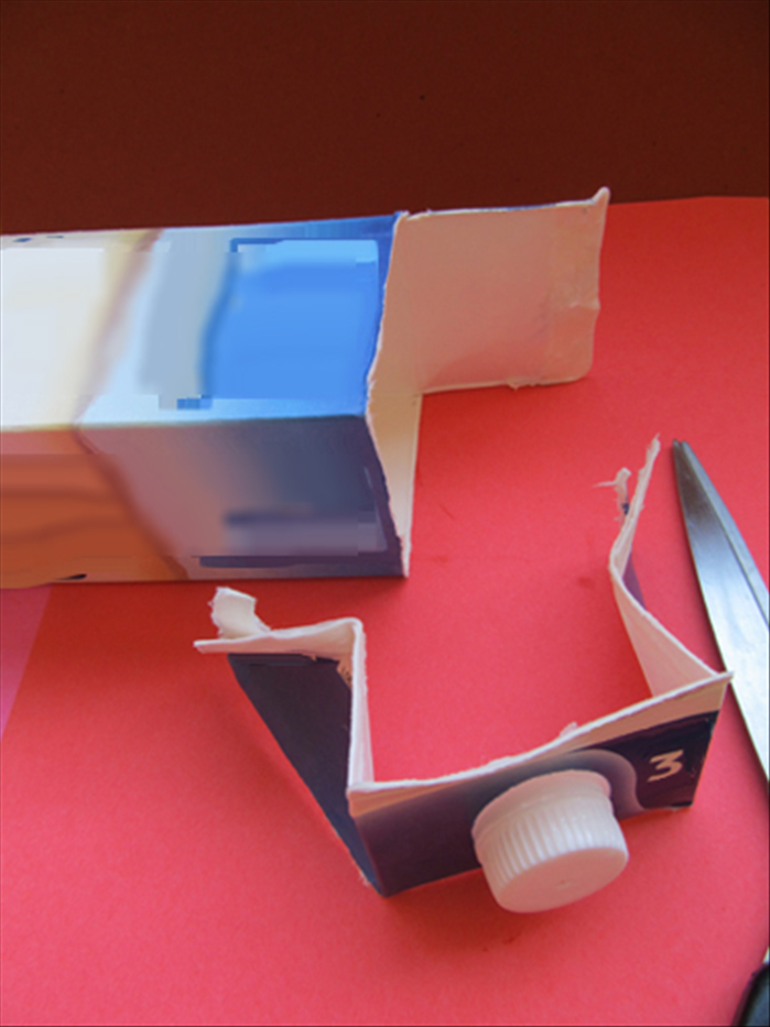 Cut off along the fold line on the sides and front as shown in the picture.