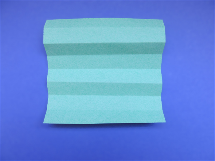 <p> Unfold the paper</p>  <p> Use the crease lines to fold the paper accordion style</p>  <p>  </p>