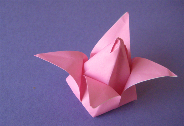 Pull down the other 3 petals and your origami tulip is ready to be put on a stem.