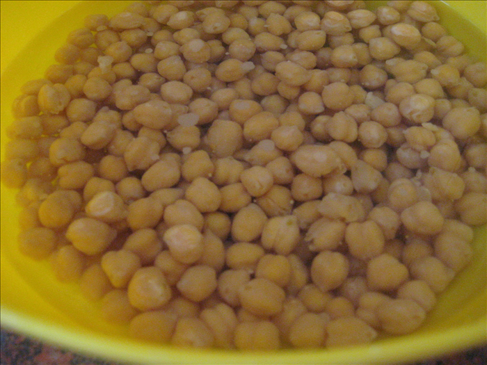 Soak chickpeas overnight and rinse them off