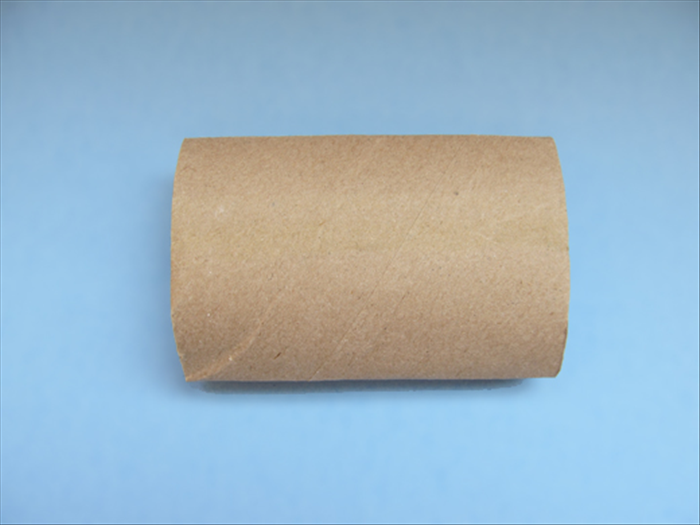 Squash the toilet paper roll flat