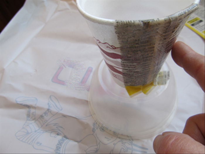 Continue adding strips, over lapping and as neatly as possible. Smooth them out with your finger as you go along.
