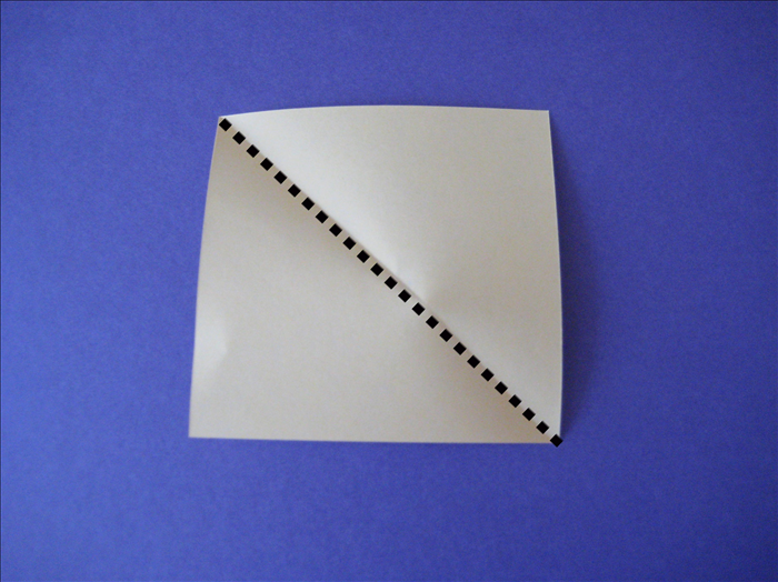 fold the 7 squares of paper in half diagonally