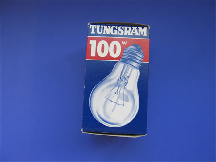 A light bulb box was used for this guide but any box that is easy to take apart will do. Open the box and carefully separated the glued area