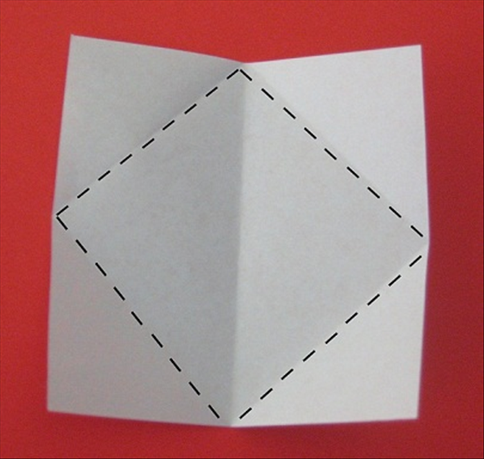 Fold all the corners to the center using the crease you just made as a guide