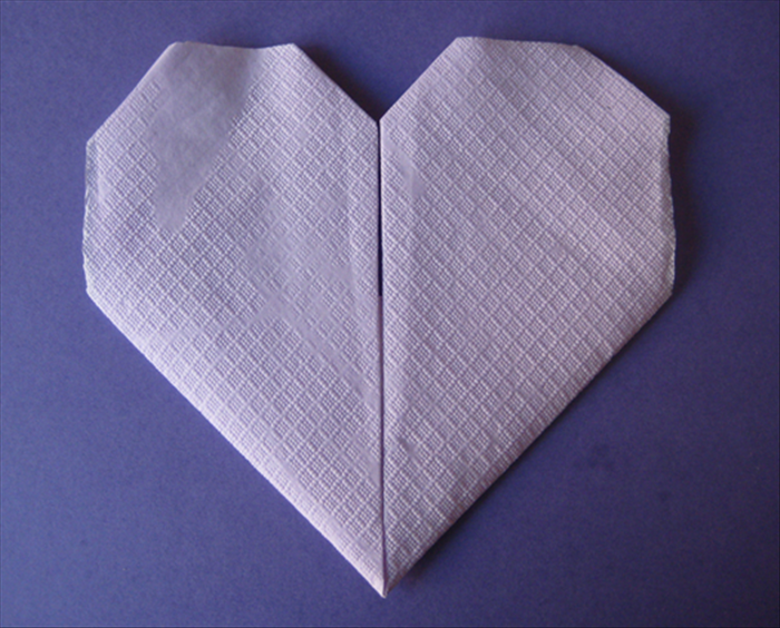 Flip the napkin over to see your finished heart!