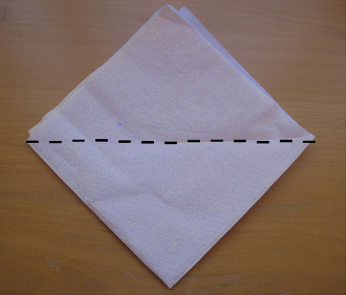 Turn the napkin so that the open side is at the top.