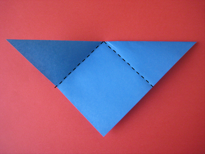 The long edge should be at the top.