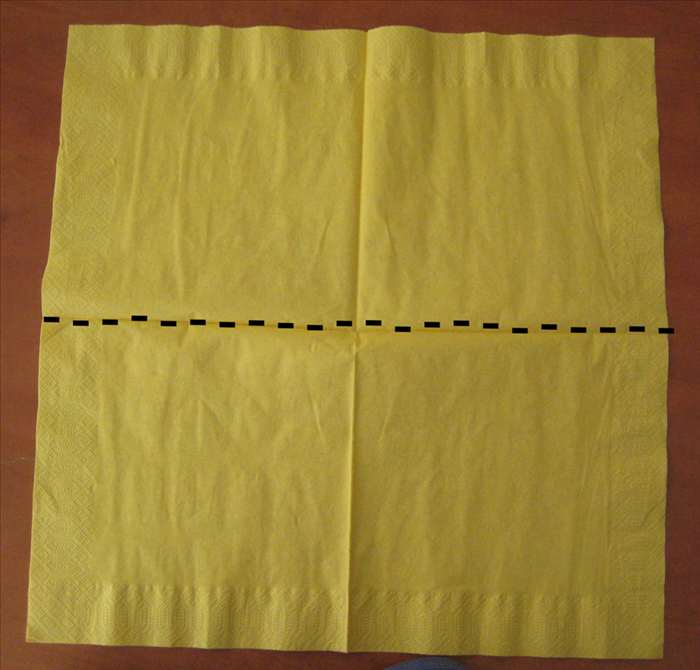 Open up your napkin completely