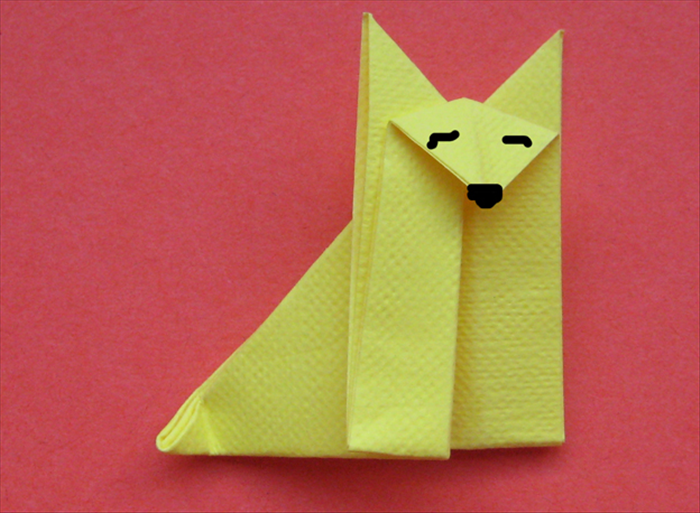 Your origami fox is finished!