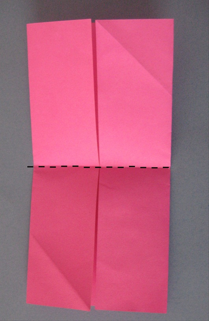 Fold in half horizontally