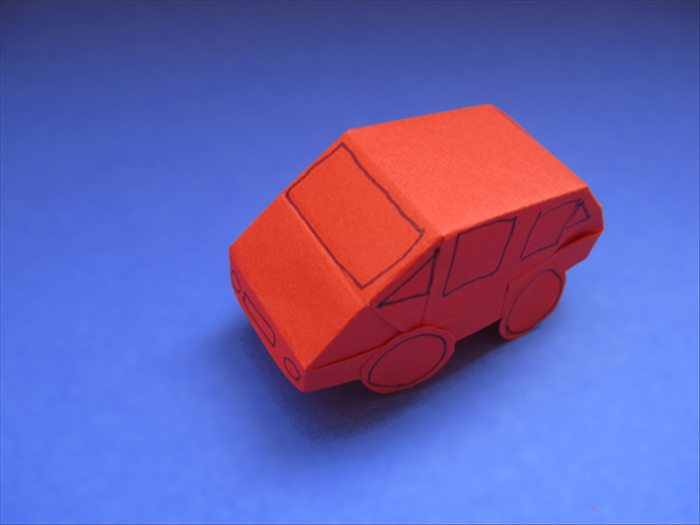 <p> Your paper car is finished. Have fun!</p>