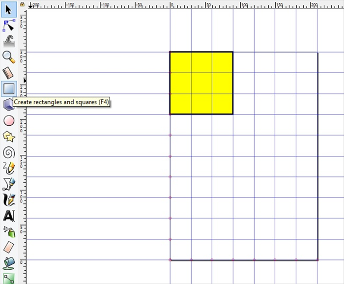 <p> 5. Click - Create rectangles and squares. Drag a rectangle. * The color and line width will be the same as the last used. You can chage that later.  </p>