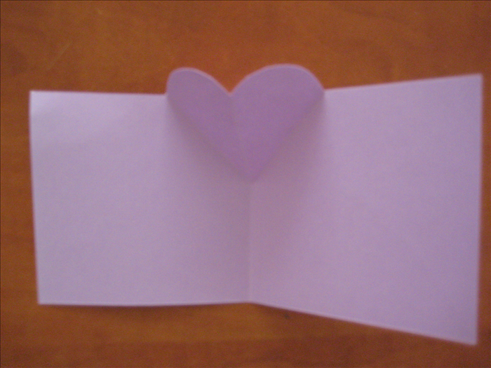 Open your heart card.  It is now ready for decorating and your message.