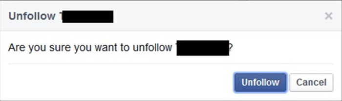 "<p> A confirmation window should open. Press on ""Unfollow"".</p>"