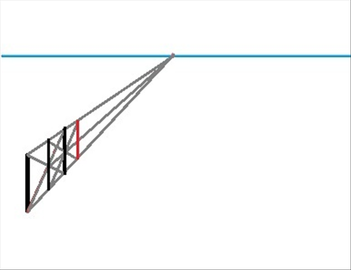 Draw a vertical line connecting the 2 ends of orthogonal lines you just made in step 8 and 9