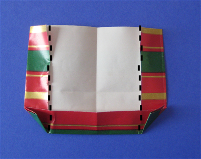 Fold the sides along the inner side of the triangle You just made