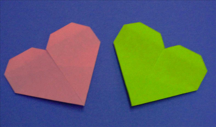 To make this heart you will need 1 piece of paper.  The length should be 4 times the width.