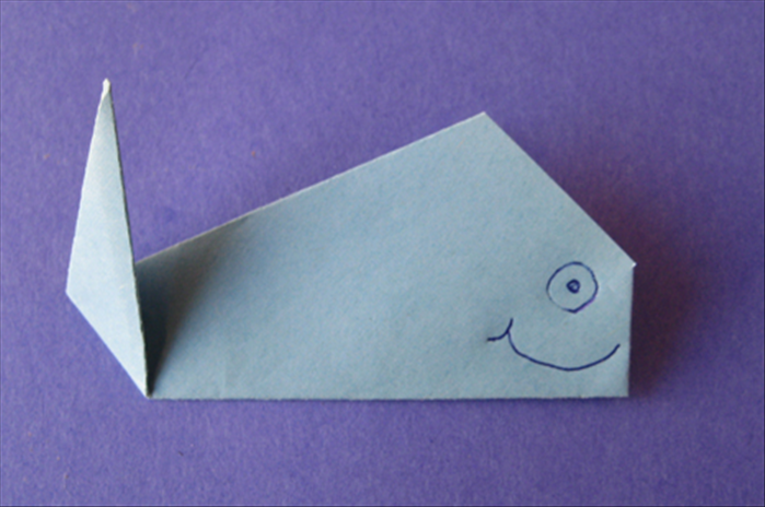 Your origami whale is finished!