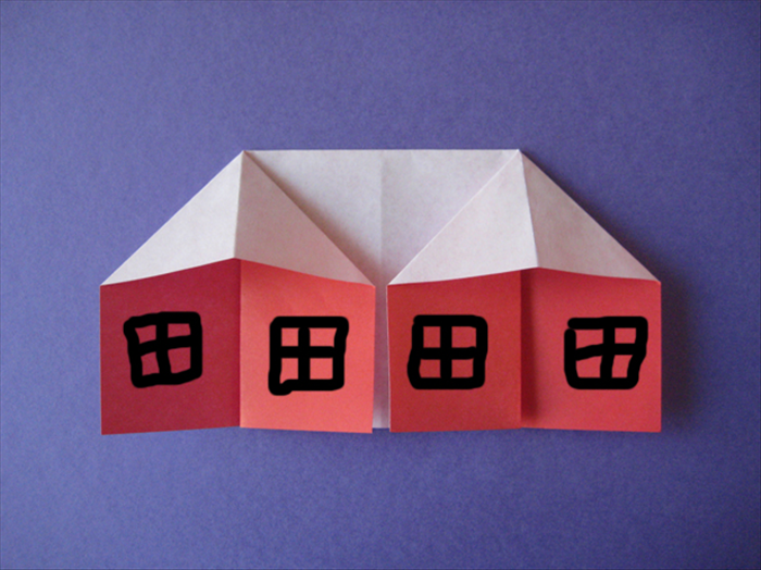 To make an origami house you will need 1 square piece of paper that is colored on one side.