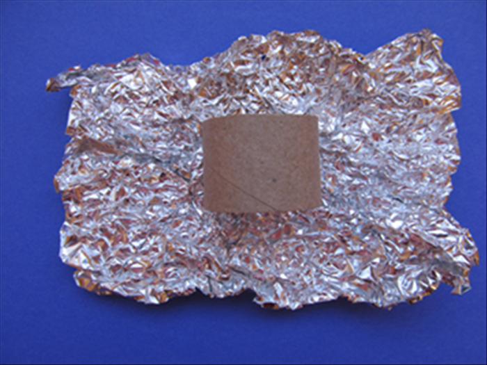 Open up the aluminum foil - not all the way and do not smooth it out