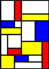 How to make a Piet Mondrian style picture with Inkscape