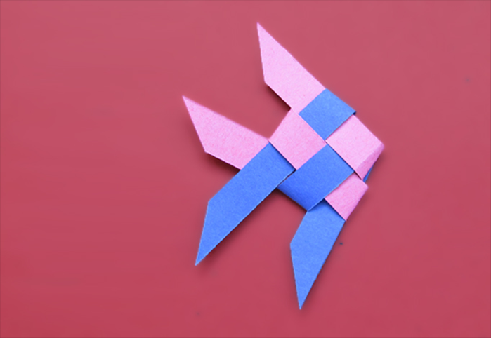 To make the woven fish from paper you will need: