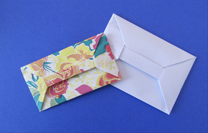 To make a bar envelope you need a rectangle piece of paper.  A4 is a good size. Smaller rectangles can be used.