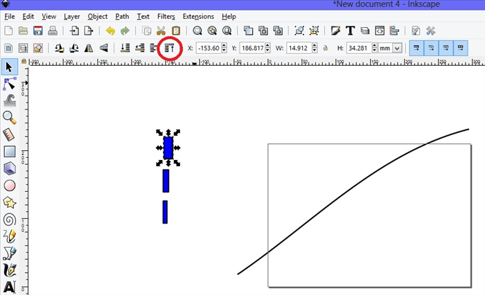 <p> 5. Select one of the rectangles.</p>  <p> Click on Raise to the top, circled in red.  </p>
