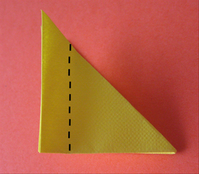 Rotate the long edge to the right side.