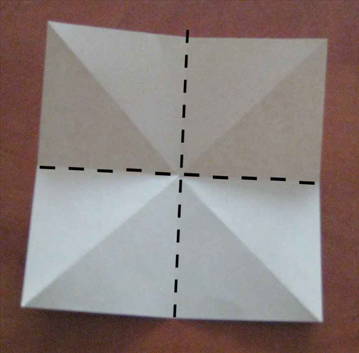 Flip paper over to back side. 