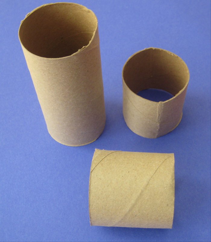 Cut the toilet paper roll to the height you want to box to be.