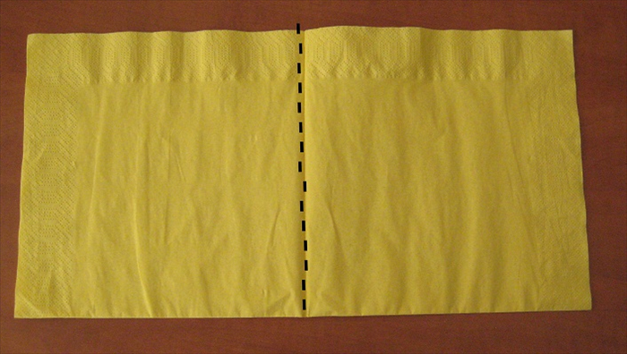 Bring the left edge over to the right edge to fold it in half again