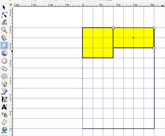 <p> 6. Create another rectangle.  </p>