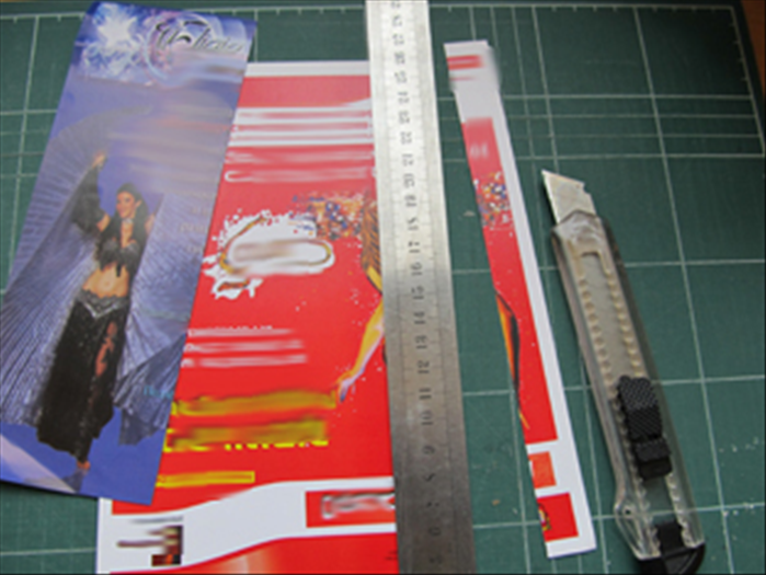 <p> Cut the junk mail or magazine pages into &frac34; inch wide strips.</p>