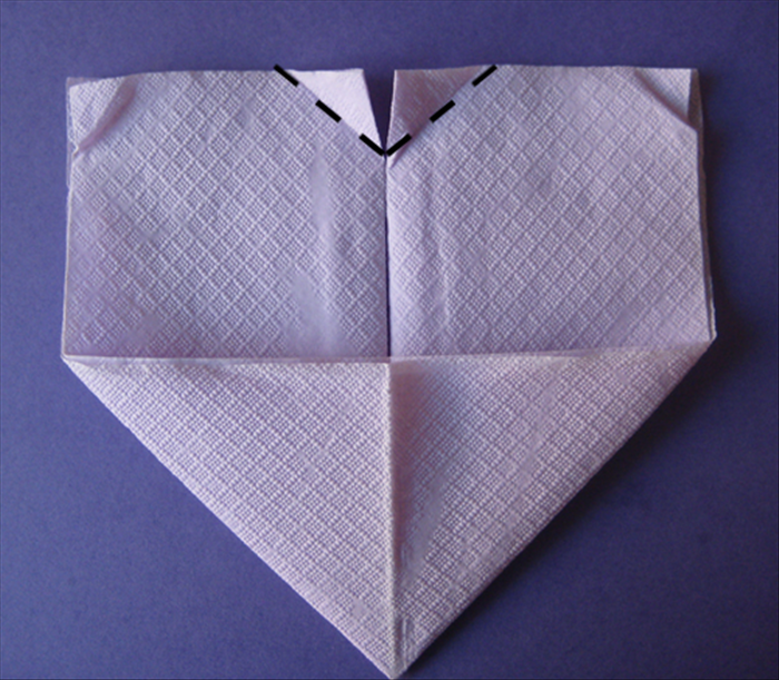 Flip the napkin over to back side.