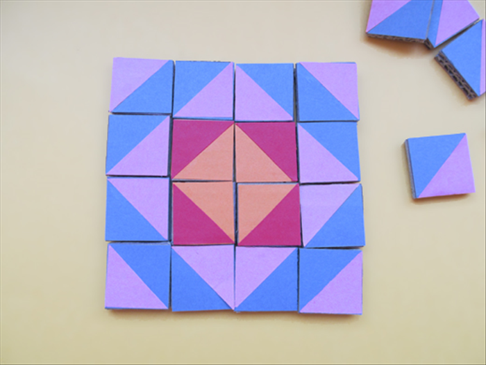 <p> You can make different colored sets of squares for more possibilities.</p>   <p>  </p>