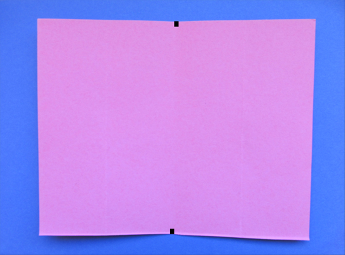 Place your paper so that the short edges are at the sides.