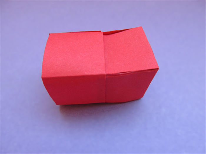 "Take the cube you just made and insert it into a third ""ring"" This will make the cube sturdier"
