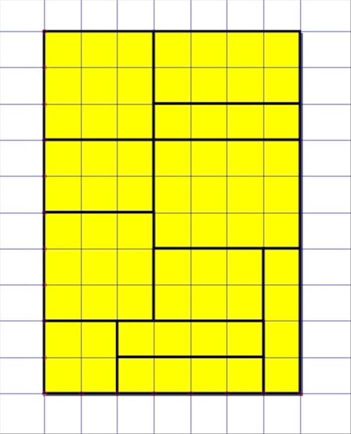 <p> 7. Fill the page with rectangles.  </p>